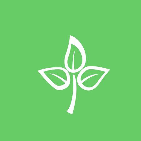 Eco icon green leaf vector illustration isolated Иллюстрация
