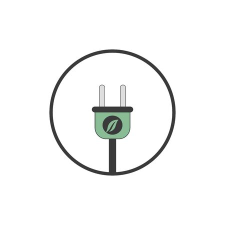 Ecology Flat Icon with shadow Stock Illustratie