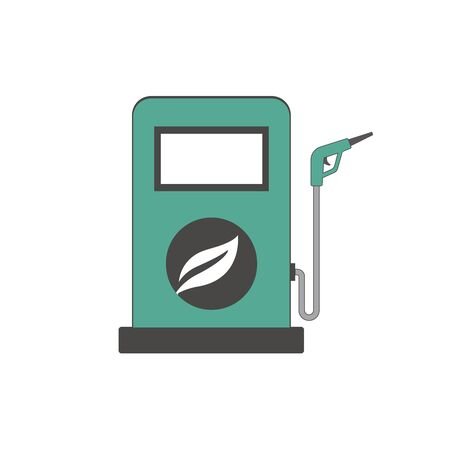 Bio fuel concept with petrol pump machine stock vector.
