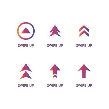 Swipe up set stories vector. Stories swipe button, vector illustration Иллюстрация