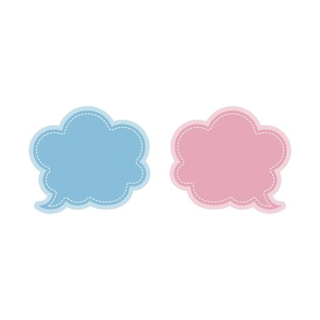 thought blue and pink bubbles web icon. vector design Фото со стока - 131319897