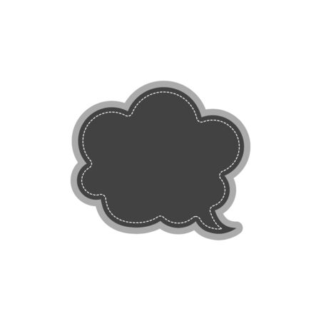 thought bubble web icon. vector design