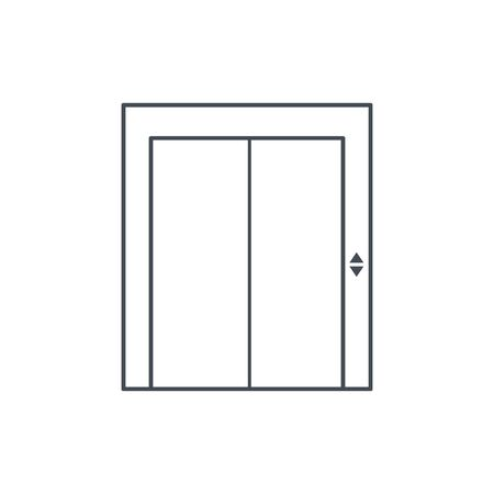 Icon elevator with closed doors. vector