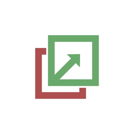 Import file or import document download line art vector icon for apps and websites. Ilustração