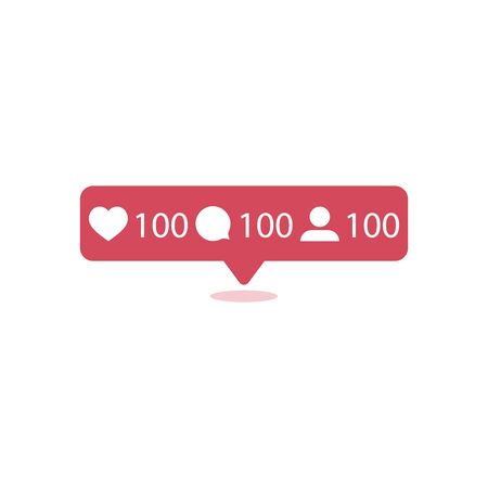 Like icon vector. Comment icon vector. Follower icon vector. Social media. Social network. Notification Icon