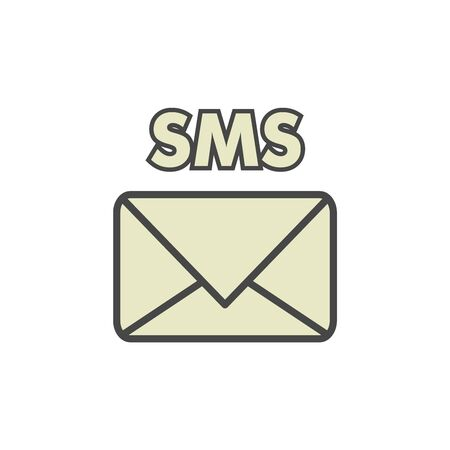 Mobile sms text message mail icons.
