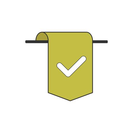 Bookmark icon vector pictogram isolated on white Çizim