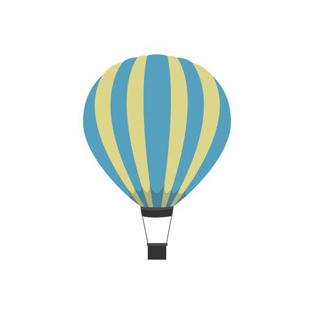 Colorful Hot air balloon isolated on white background. vector format Illusztráció
