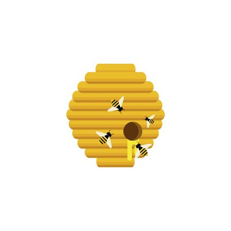 illustration of isolated beehive branch on white background Ilustrace