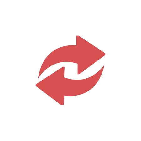 red back and forward arrow icon vector illustration on white background.