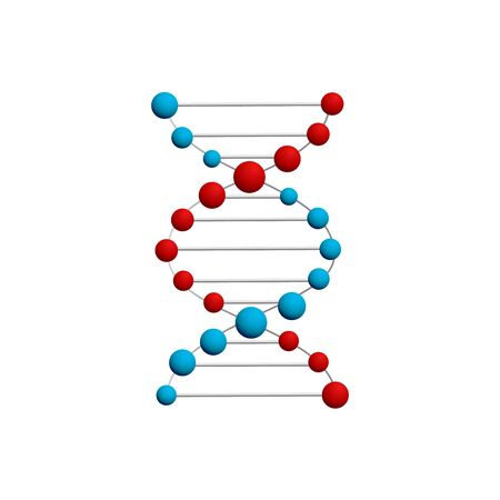 Thin line concept. DNA Icons set vector illustration. Polygonal DNA concept. DNA, genetic sign, elements and icons collection. Stock Illustratie