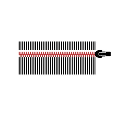 Vector realistic barcode isolated on white background Stock Illustratie