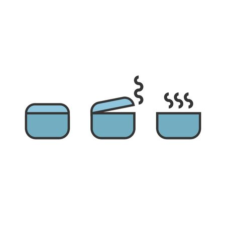 Pot icon. Cooking icon. Vector Illustration on white background