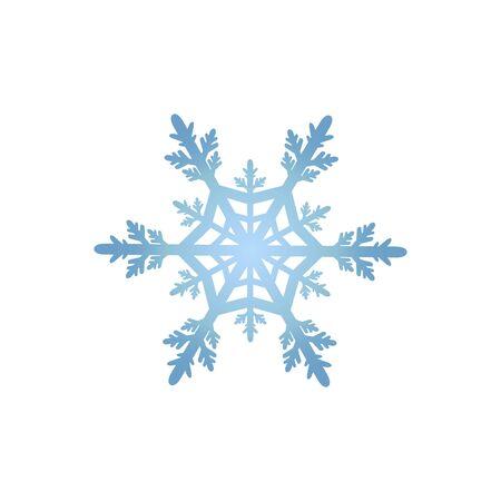 blue Snowflake Icon. Winter background. Stock Illustratie