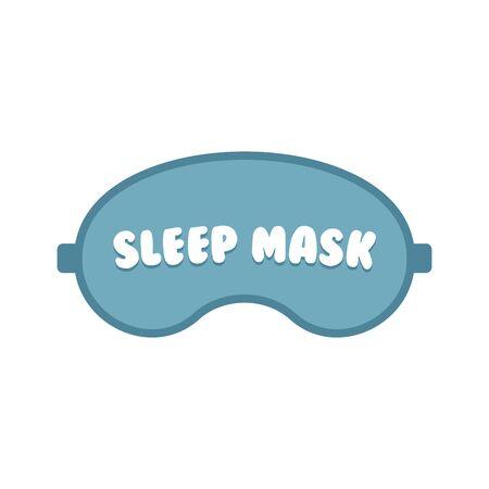 Sleeping masks set in flat design style, vector illustration. Stock Illustratie