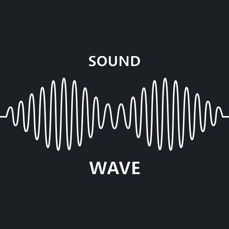 sinusoid sound wave pattern modern music design element isolated on black background
