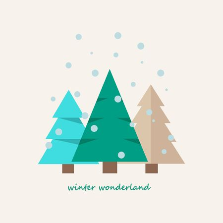 christmas tree icon . Flat design style modern vector illustration. Isolated on stylish color background. Elements in flat design.