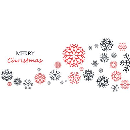 Merry Christmas and Happy New Year large postcard with text.