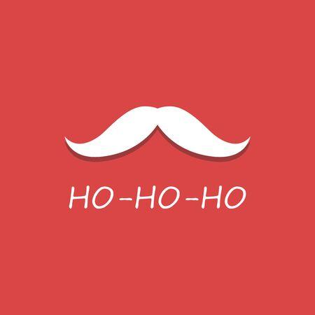 illustration of Santa Claus mustache singing ho ho ho wishing Merry Christmas