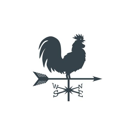 rooster weather vane (weathercock silhouette).