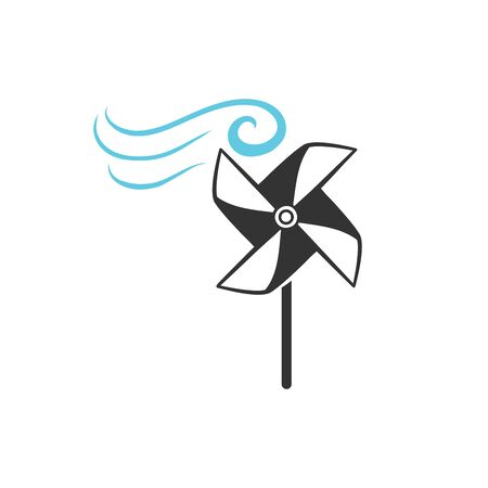 wind icon. flat wind icon. wind vector on white background