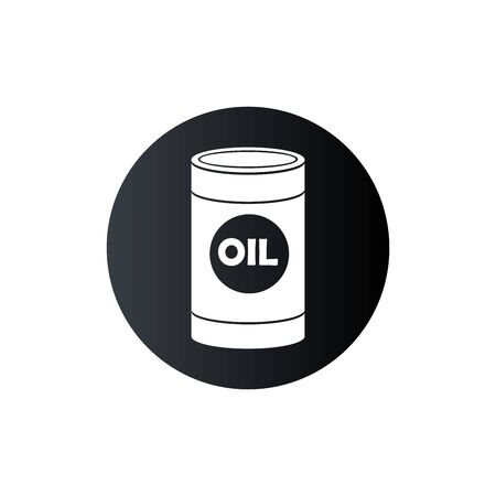 Bottle engine oil vector illustration balack color on white background.