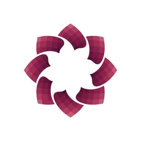 vector illustration of abstract geometric flower logo  イラスト・ベクター素材