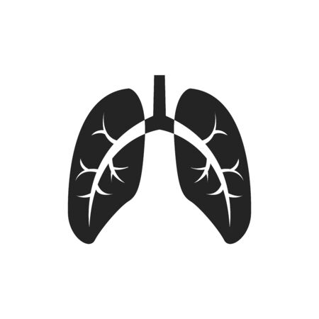 Icon lungs. Simple vector illustration.