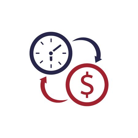 Time is money business metaphor concept. Eps10 vector illustration