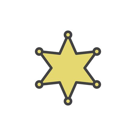 Sheriff s Badge vector icon for sheriff s star, wild west, western, police, deputy, authority concept 版權商用圖片