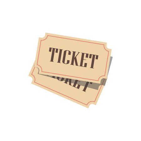 Cinema ticket. Vector illustration. Conceptual illustration. Isolated on white background.