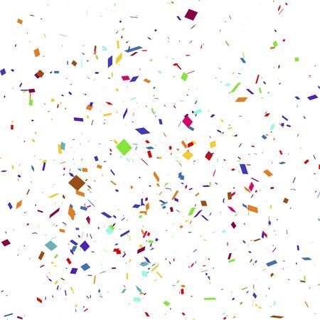Illustrazione vettoriale di uno sfondo colorato festa con coriandoli.
