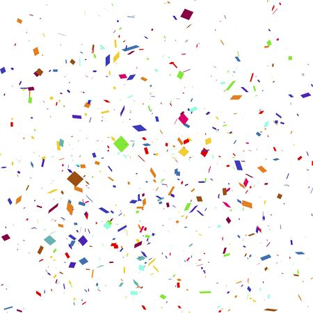 Vector illustration of a colorful party background with confetti.