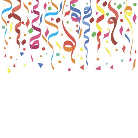 Vector illustration of a colorful party background with confetti and space for your text. Vektoros illusztráció