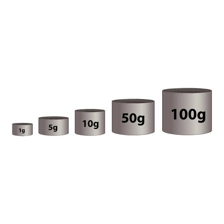 Vector scales Icon, isolated on white bacground1g 5g 10g 50g 100g vector illustration