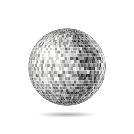 Vector Version of a Mirrorball, Mirror Ball, Disco Ball, Discoball or Spiegelkugel, for party flyers Illustration