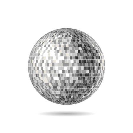 Versión vectorial de Mirrorball, Mirror Ball, Disco Ball, Discoball o Spiegelkugel, para volantes de fiesta