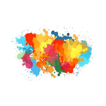 Vector watercolor. The colors of the rainbow, colorful vector watercolor splashes, drops and blot. Transparent shades and pure colors. watercolor splatter.