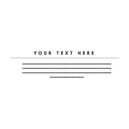 place for your text vector illustration black and white.