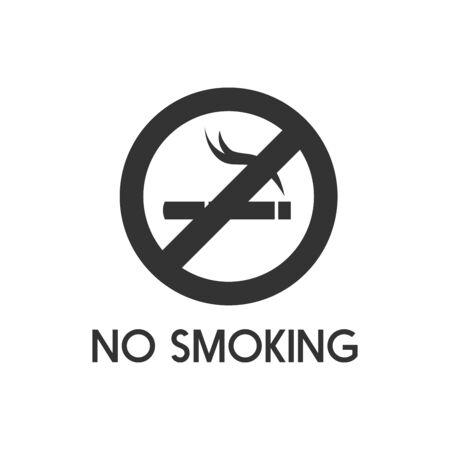 No smoking sign. No smoke icon. Stop smoking symbol. Vector illustration. Filter-tipped cigarette. Icon for public places