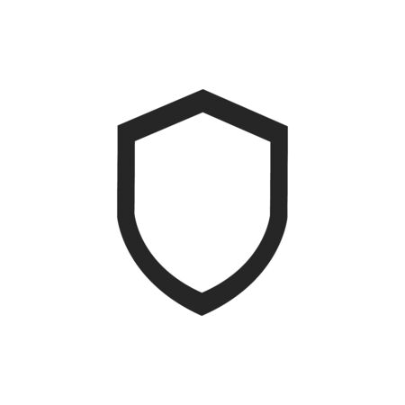 Shield Icon in trendy flat style isolated on grey background. Shield symbol for your web site design, logo, app, UI.