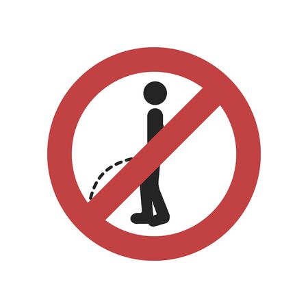 No peeing sign on white background.vector illustration Illustration