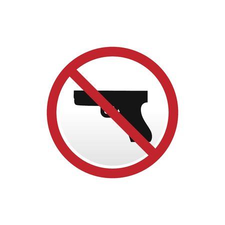 Symbol No gun on white background