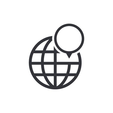 Map pin point icon. Locator position pinpoint vector. Trendy navigation symbol for website design, mobile app. Logo illustration