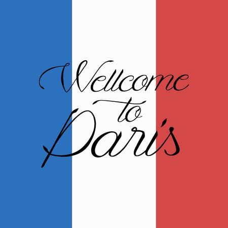 Welcome to Paris. Background with Eiffel Tower and Buildings.