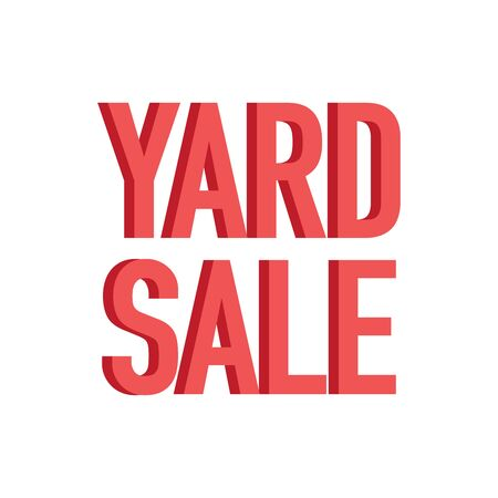 Yard sale red sign with copy space isolated on a white background, vector illustration Vector Illustratie