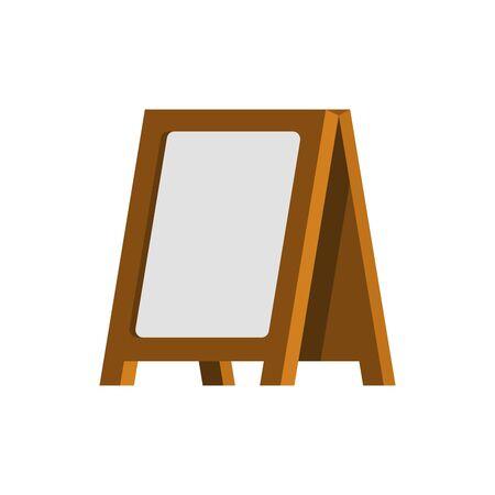 Old Wooden Billboard. Blank Advertising Vector Template.