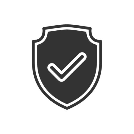 Shield check mark logo icon design template elements. 向量圖像