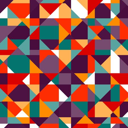 Pattern of geometric shapes. Triangles.Texture with flow of spectrum effect.