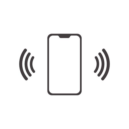 Call icon vector. Phone vector. mobile . telephone in trendy flat style isolated on white background. icon with waves. symbol for your web site design.